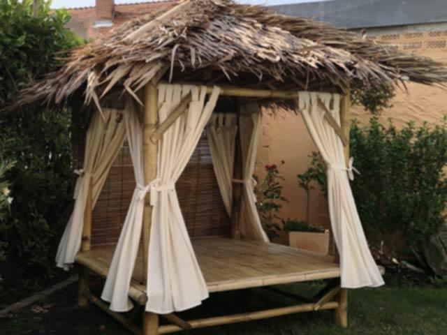 Bambus Gartenmöbel Vorhangsatz