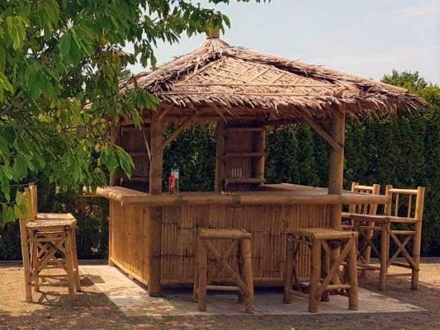 Bambus Gartenmöbel Freizeitpark