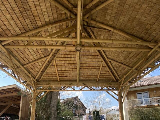 Bambus Dachkonstruktion