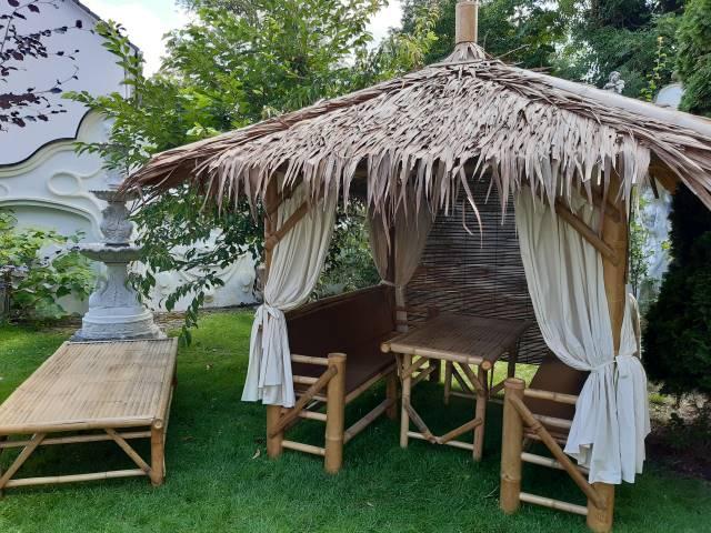Outdoor Daybeds Kombi-Sala mit Tisch und Podest